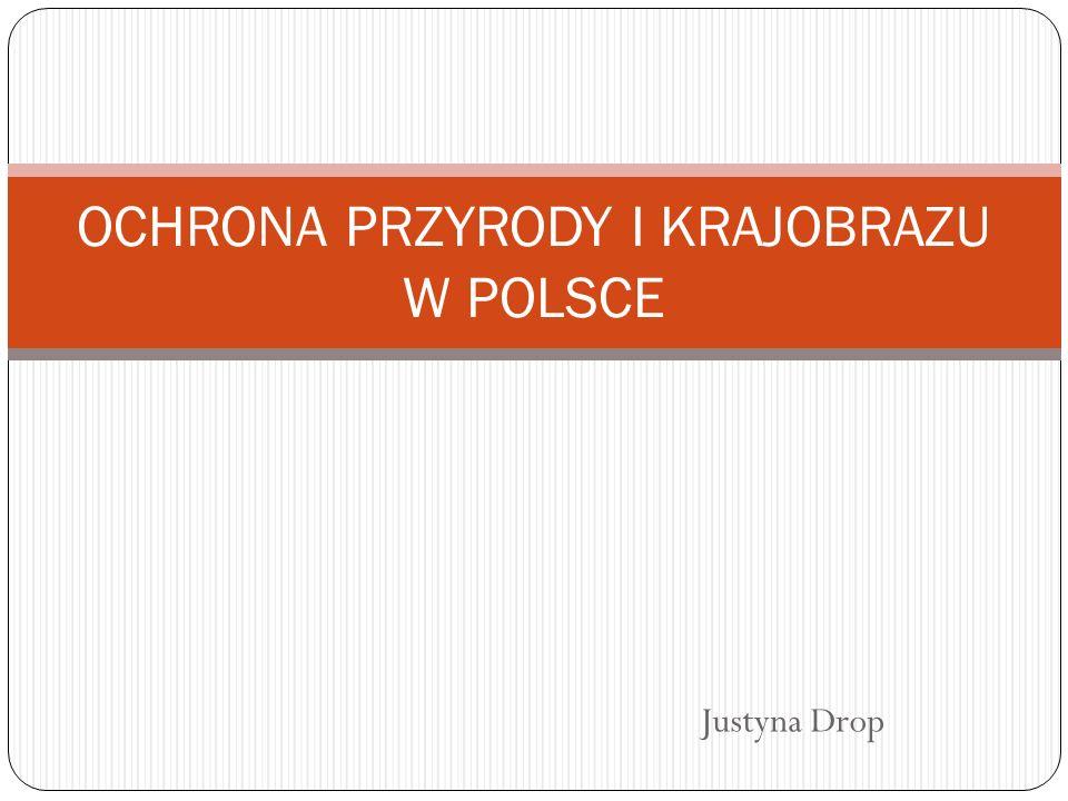 Justyna Drop OCHRONA PRZYRODY I KRAJOBRAZU W POLSCE