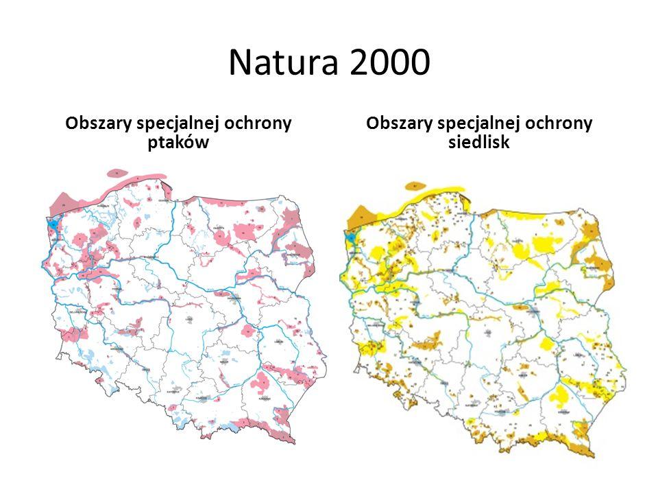 Natura 2000 Obszary specjalnej ochrony ptaków Obszary specjalnej ochrony siedlisk