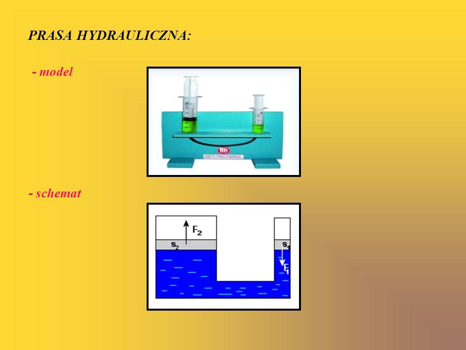 Prasa hydrauliczna to urządzenie techniczne zwielokrotniające siłę nacisku dzięki wykorzystaniu zjawiska stałości ciśnienia w zamkniętym układzie hydraulicznym.