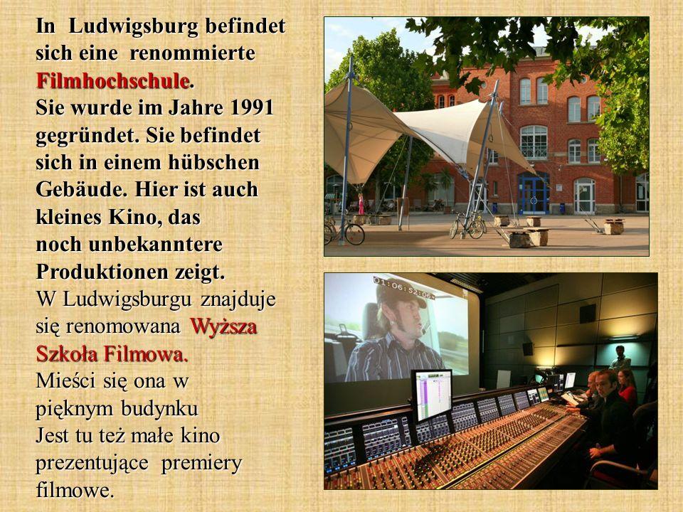 In Ludwigsburg befindet sich eine renommierte Filmhochschule. Sie wurde im Jahre 1991 gegründet. Sie befindet sich in einem hübschen Gebäude. Hier ist