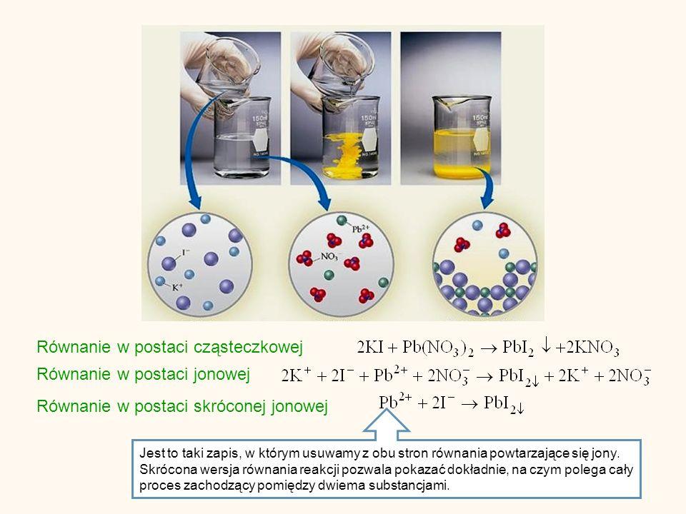 Hydroliza kationowa Hydrolizie kationowej ulegają sole słabych zasad i mocnych kwasów.