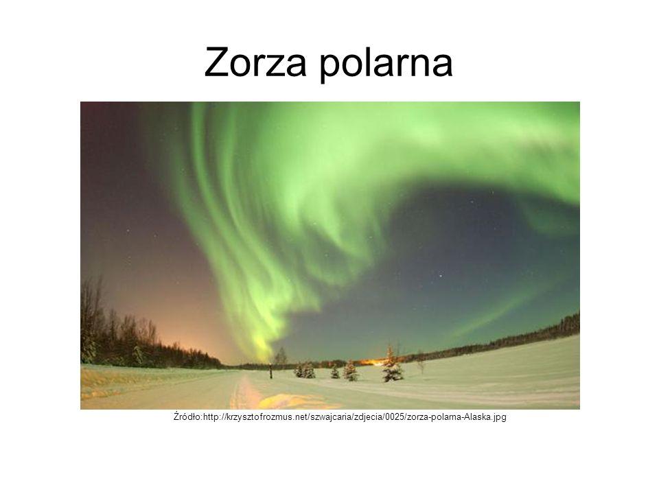 Zorza polarna Źródło:http://krzysztofrozmus.net/szwajcaria/zdjecia/0025/zorza-polarna-Alaska.jpg