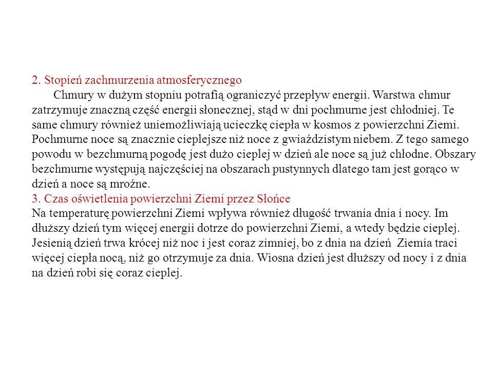 Podstawowe typy pogody nad obszarem Polski 1.