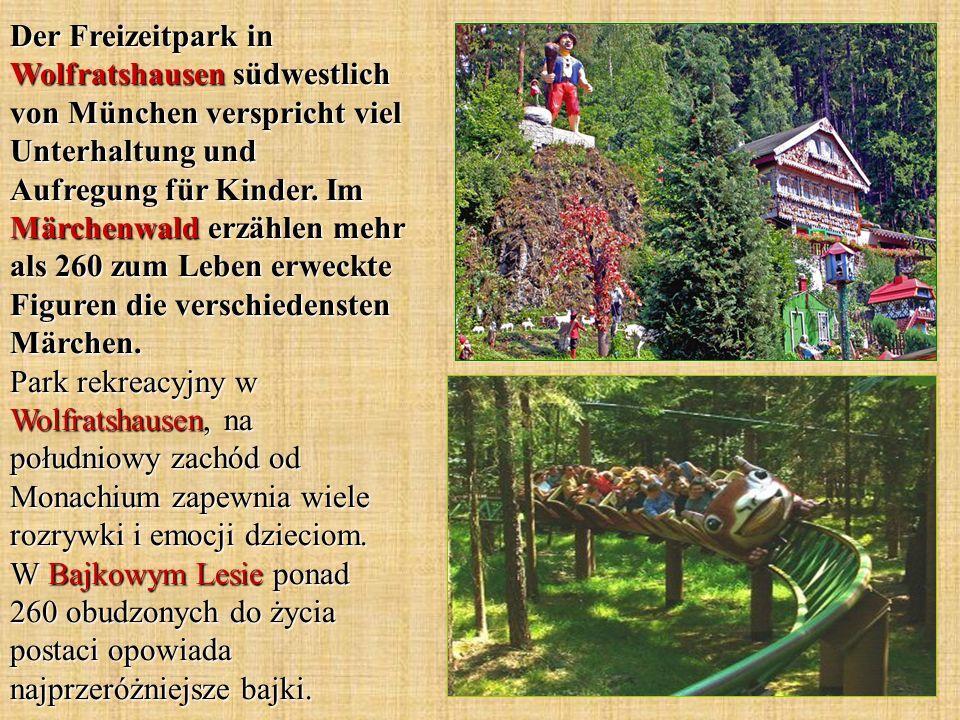 Der Freizeitpark in Wolfratshausen südwestlich von München verspricht viel Unterhaltung und Aufregung für Kinder. Im Märchenwald erzählen mehr als 260