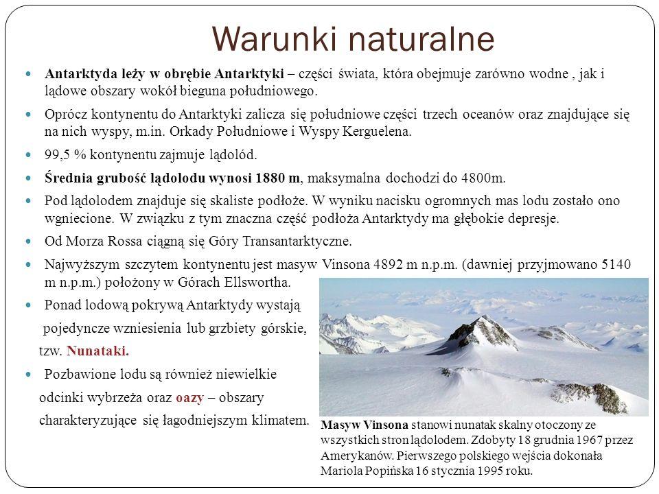 Warunki naturalne Antarktyda leży w obrębie Antarktyki – części świata, która obejmuje zarówno wodne, jak i lądowe obszary wokół bieguna południowego.