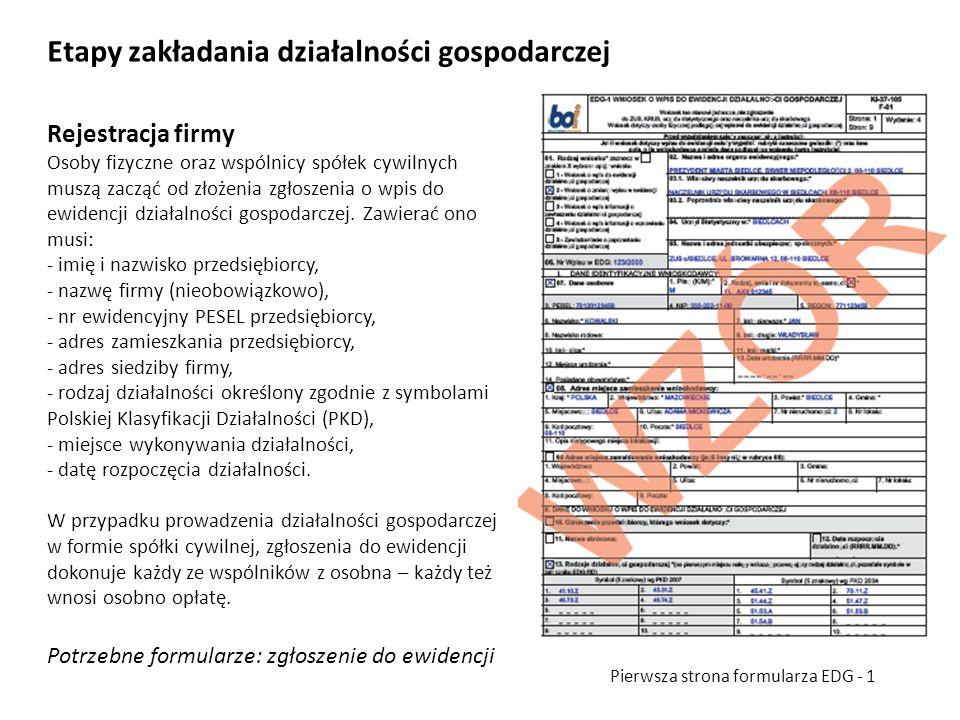 Rejestracja firmy Osoby fizyczne oraz wspólnicy spółek cywilnych muszą zacząć od złożenia zgłoszenia o wpis do ewidencji działalności gospodarczej. Za
