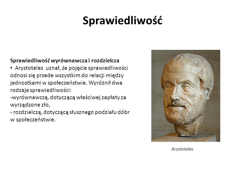 Sprawiedliwość wyrównawcza i rozdzielcza Arystoteles uznał, że pojęcie sprawiedliwości odnosi się przede wszystkim do relacji między jednostkami w spo
