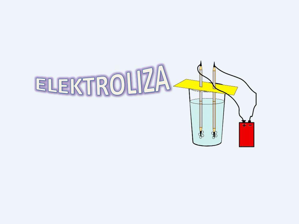 Katoda(-): 2Na + + 2e -- > 2Na Anoda(+): 2Cl - -- >Cl 2 + 2e Sumarycznie : 2NaCl 2Na + Cl 2 ELEKTROLIZA STOPIONYCH SOLI Elektroliza zachodzi również w przypadku stopionych soli i wodorotlenków.