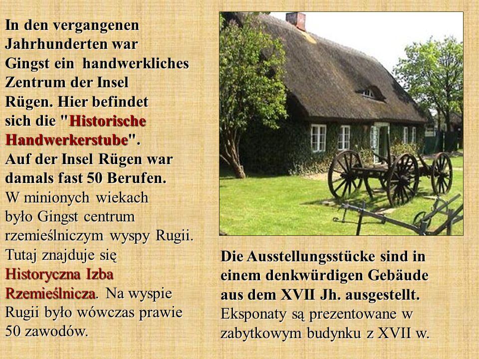Die Ausstellungsstücke sind in einem denkwürdigen Gebäude aus dem XVII Jh. ausgestellt. Eksponaty są prezentowane w zabytkowym budynku z XVII w. In de