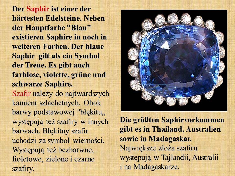 Der Saphir ist einer der härtesten Edelsteine.