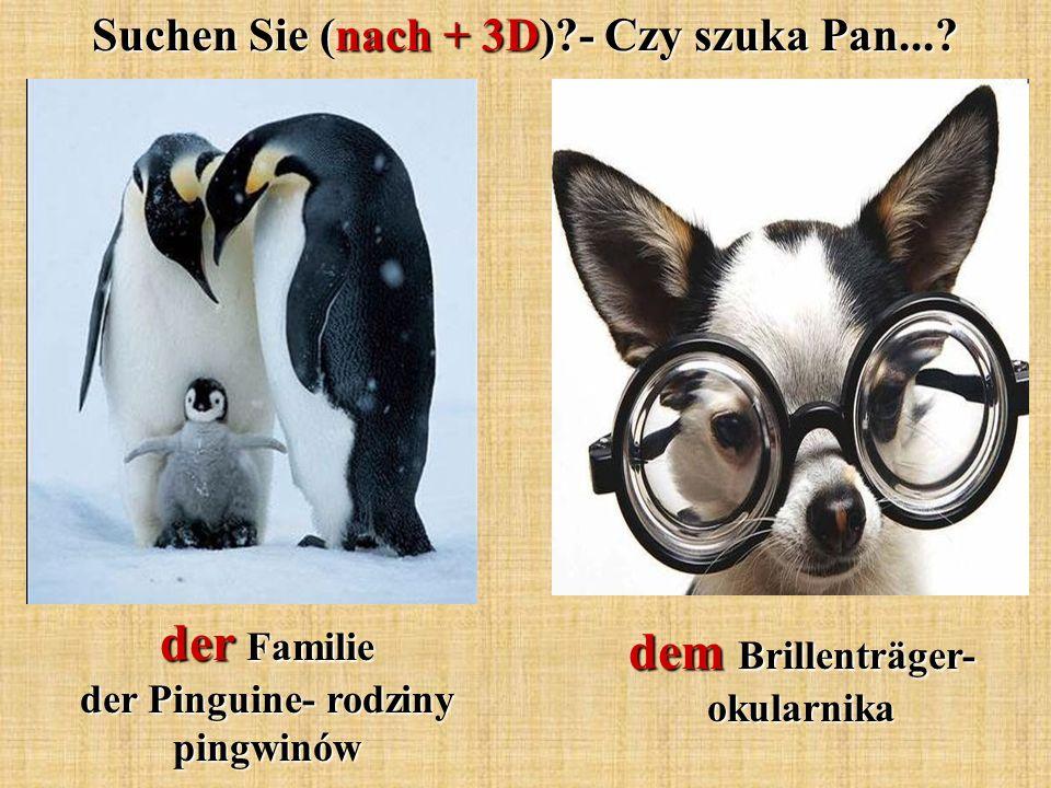 Suchen Sie (nach + 3D)?- Czy szuka Pan...? der Familie der Pinguine- rodziny pingwinów dem Brillenträger- okularnika