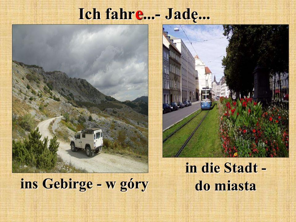 Ich fahr e...- Jadę... ins Gebirge - w góry in die Stadt - do miasta