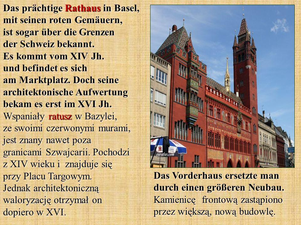Das prächtige Rathaus in Basel, mit seinen roten Gemäuern, ist sogar über die Grenzen der Schweiz bekannt.