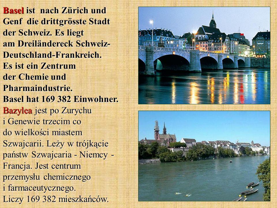 Basel ist nach Zürich und Genf die drittgrösste Stadt der Schweiz.