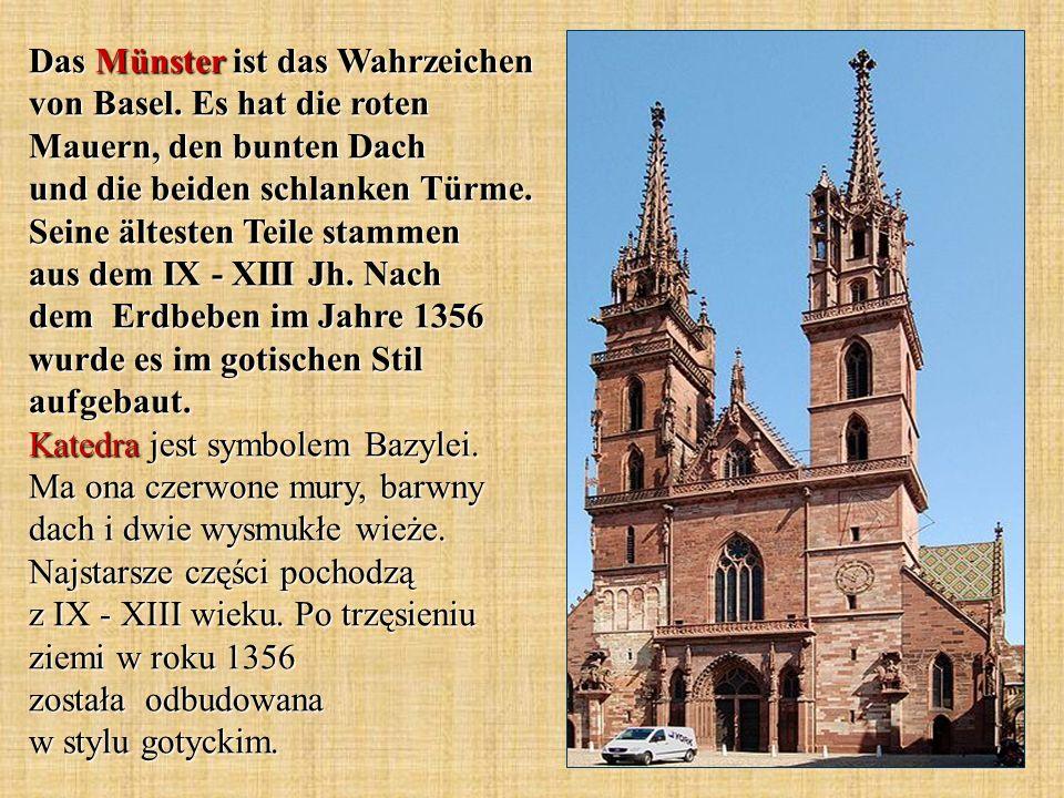 Das Münster ist das Wahrzeichen von Basel.