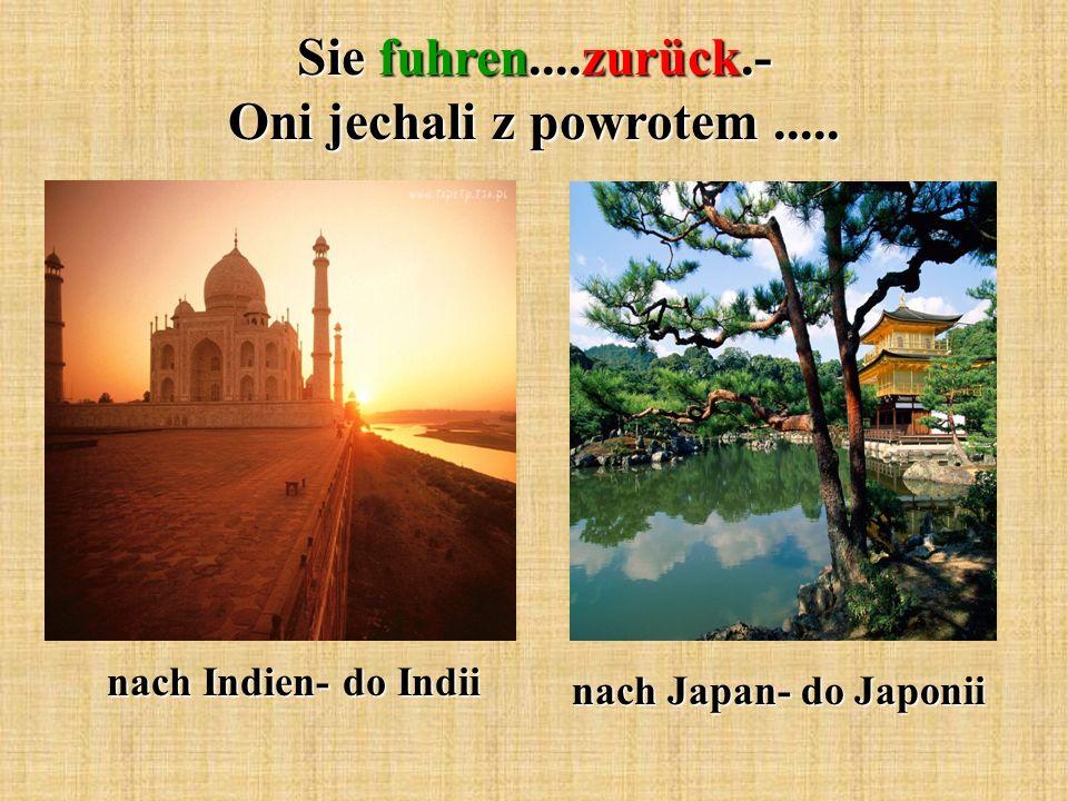 Sie fuhren....zurück.- Oni jechali z powrotem..... nach Indien- do Indii nach Japan- do Japonii