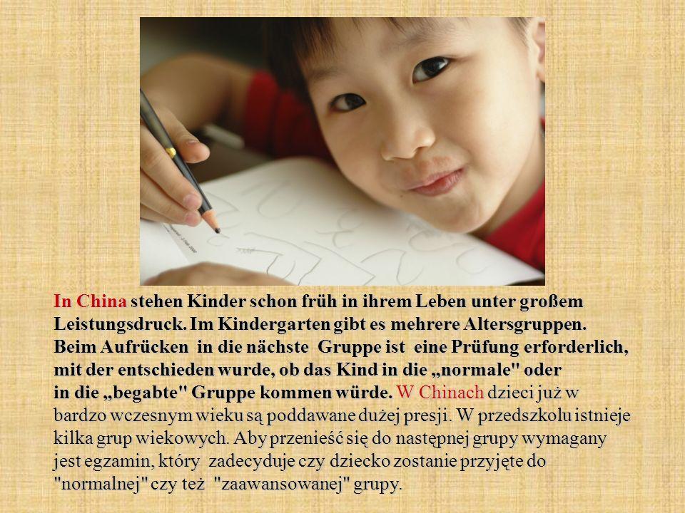 In China stehen Kinder schon früh in ihrem Leben unter großem Leistungsdruck.
