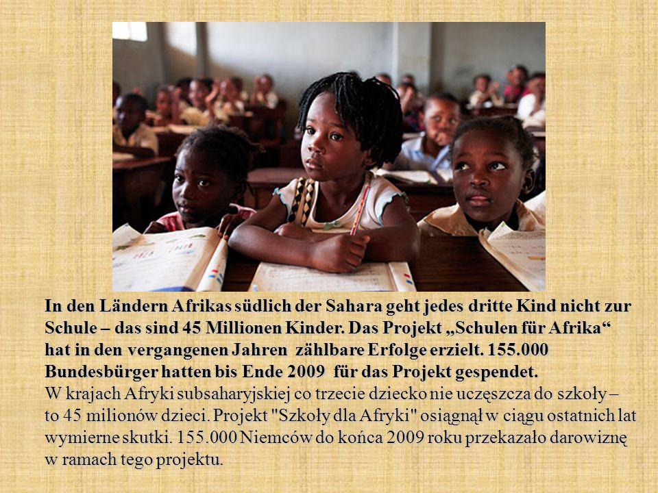 In den Ländern Afrikas südlich der Sahara geht jedes dritte Kind nicht zur Schule – das sind 45 Millionen Kinder.