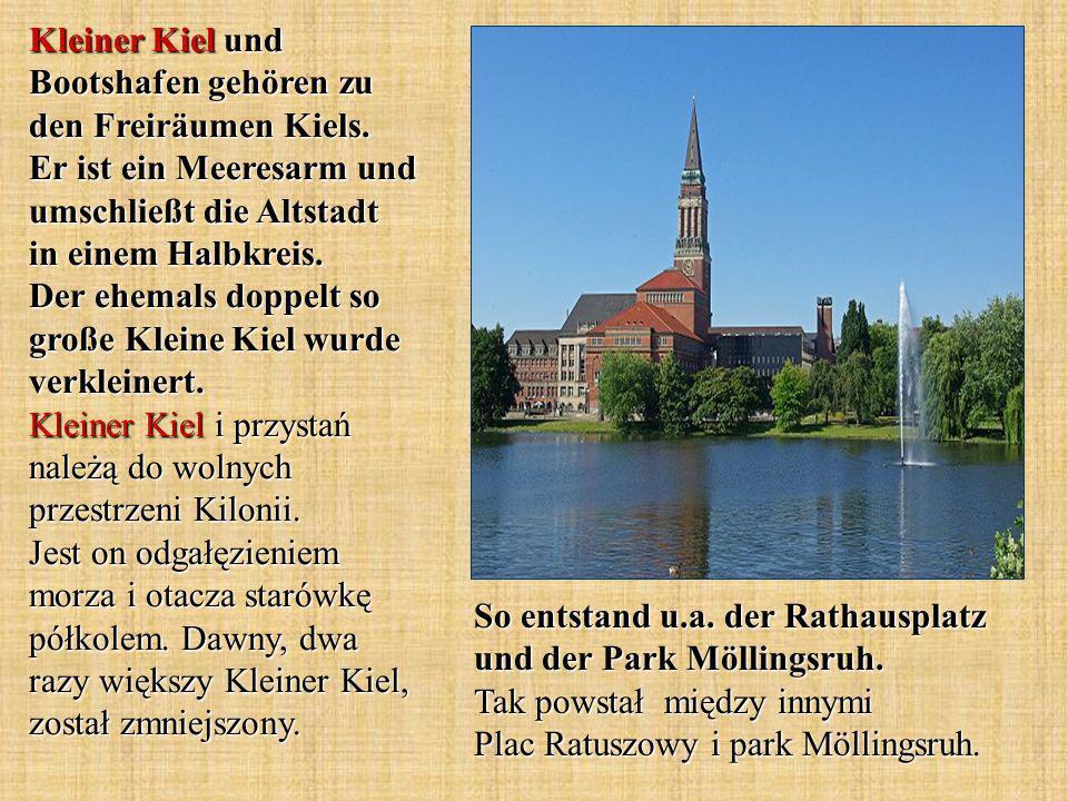 Kleiner Kiel und Bootshafen gehören zu den Freiräumen Kiels.