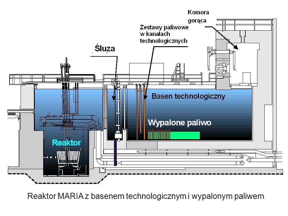 Reaktor MARIA z basenem technologicznym i wypalonym paliwem.