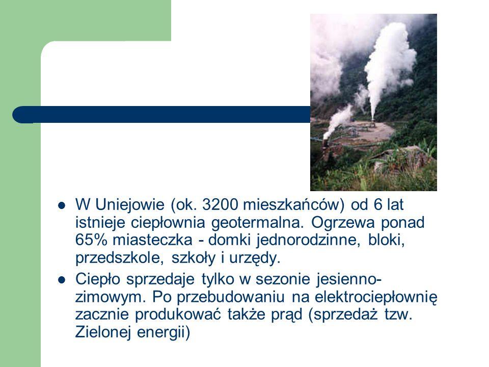 W Uniejowie (ok.3200 mieszkańców) od 6 lat istnieje ciepłownia geotermalna.