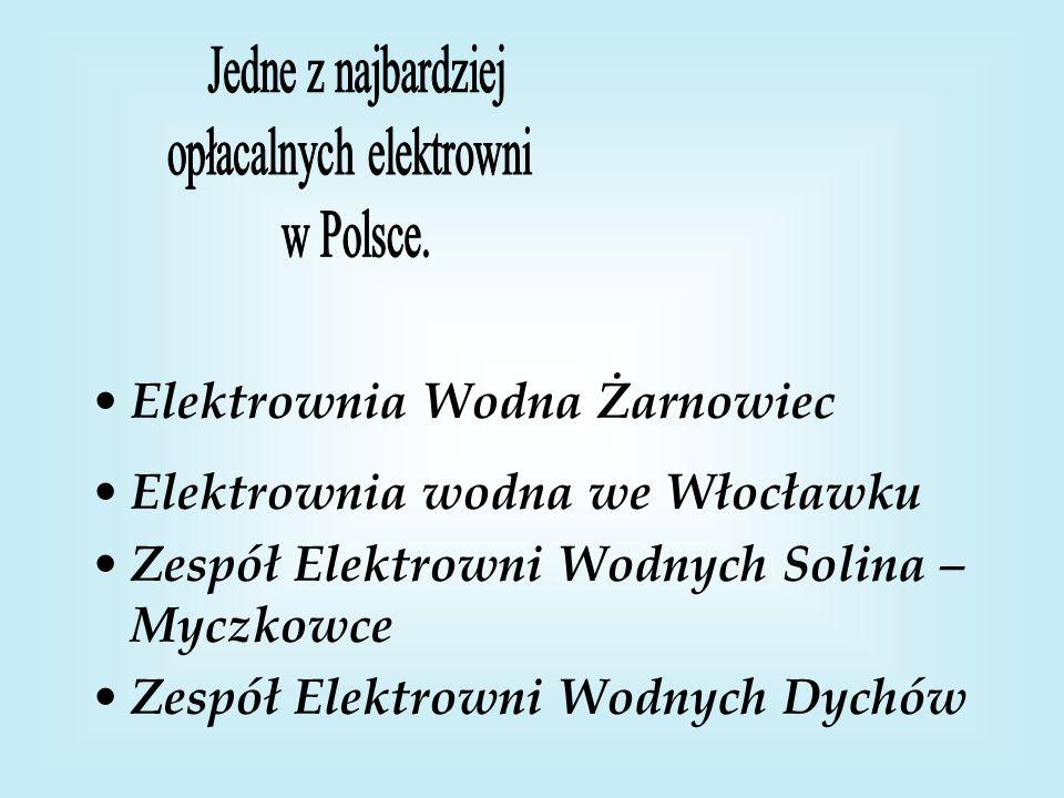 Elektrownia Wodna Żarnowiec Elektrownia wodna we Włocławku Zespół Elektrowni Wodnych Solina – Myczkowce Zespół Elektrowni Wodnych Dychów