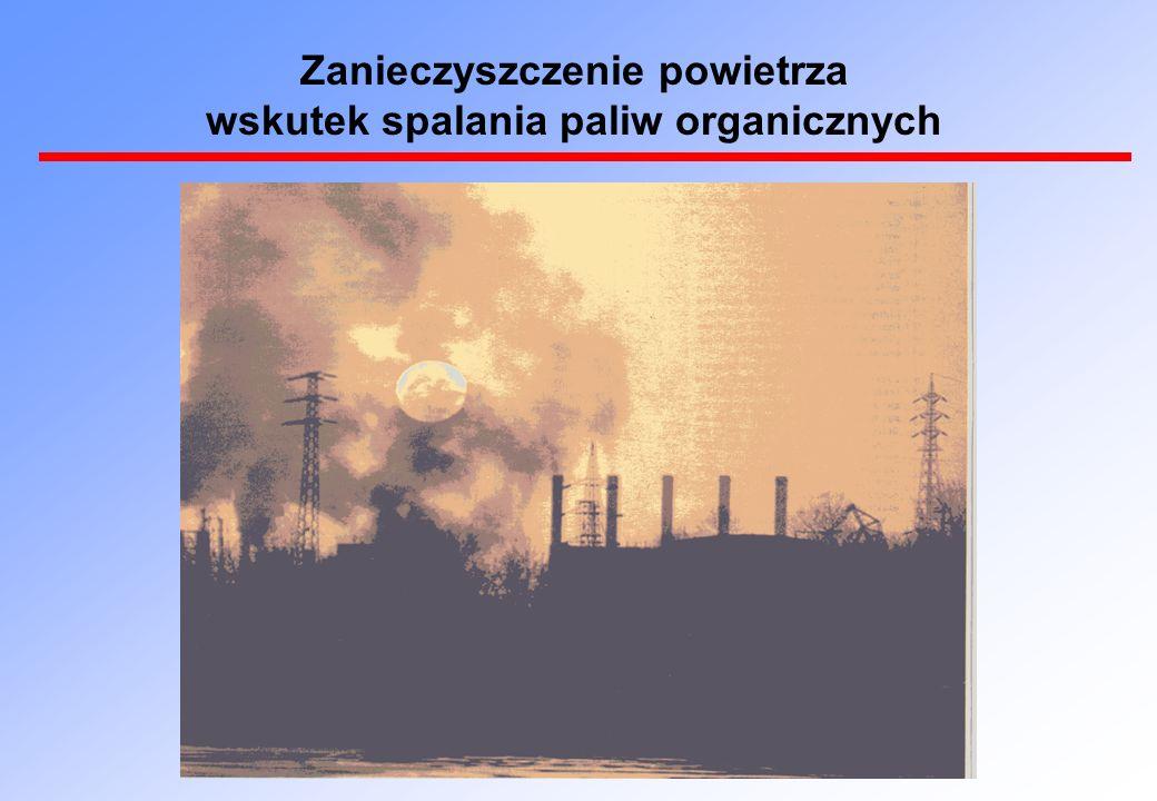 Zanieczyszczenie powietrza wskutek spalania paliw organicznych