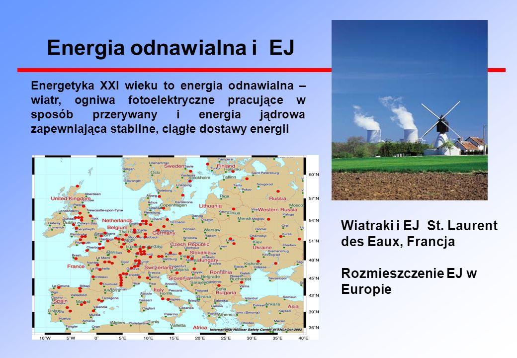 Energetyka XXI wieku to energia odnawialna – wiatr, ogniwa fotoelektryczne pracujące w sposób przerywany i energia jądrowa zapewniająca stabilne, ciągłe dostawy energii Wiatraki i EJ St.