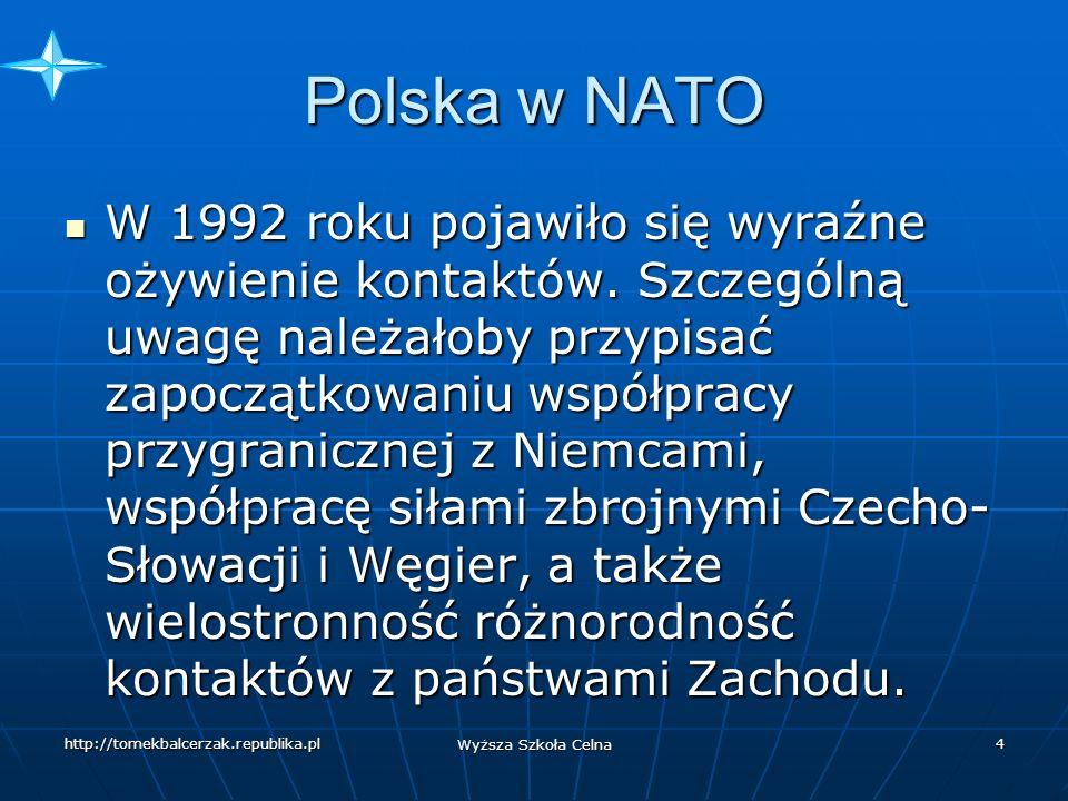 http://tomekbalcerzak.republika.pl Wyższa Szkoła Celna 3 Plany operacyjne Polskich Sił Zbrojnych w Układzie Warszawskim.