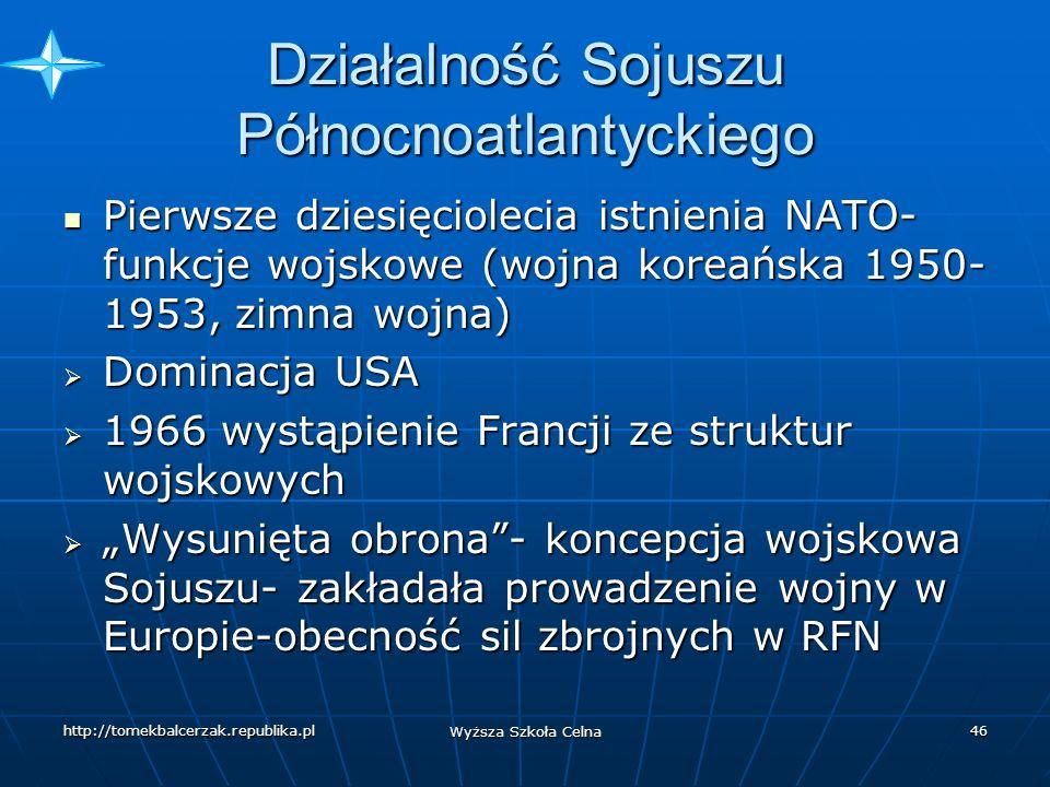 http://tomekbalcerzak.republika.pl Wyższa Szkoła Celna 45 Partnerstwo dla Pokoju Od 1994 r.