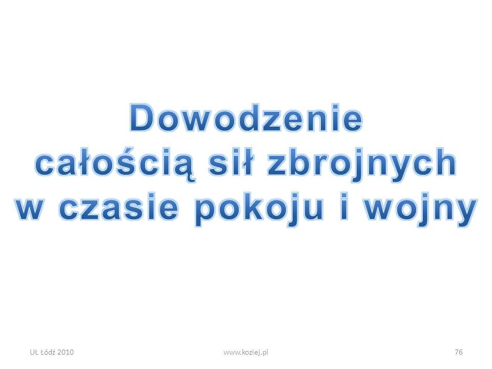 UŁ Łódź 2010www.koziej.pl76