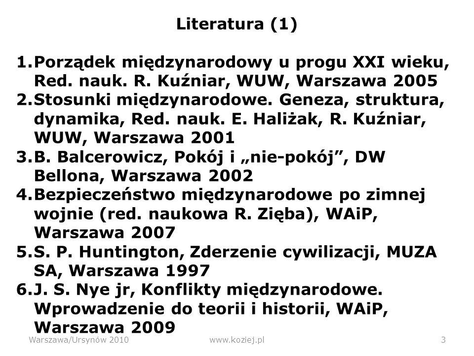Sinusoida - diagnoza Warszawa/Ursynów 2010www.koziej.pl 34 Westfalski ZEROBIEGUNOWY Wiedeński/wersalski WIELOBIEGUNOWY Jałtański/zimnowojenny DWUBIEGUNOWY Pozimnowojenny JEDNOBIEGUNOWY 0 1 2 Wiele Liczba centrów (biegunów) 1815/19181945198920101648