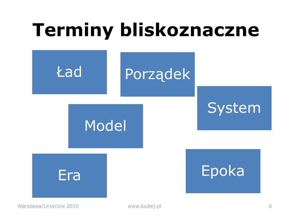 Ład pozimnowojenny Warszawa/Ursynów 2010www.koziej.pl27 Jednobiegunowy, hegemonistyczny Pax Americana.