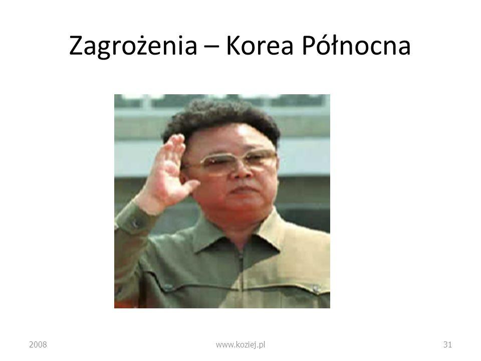 Zagrożenia – Korea Północna 2008www.koziej.pl31