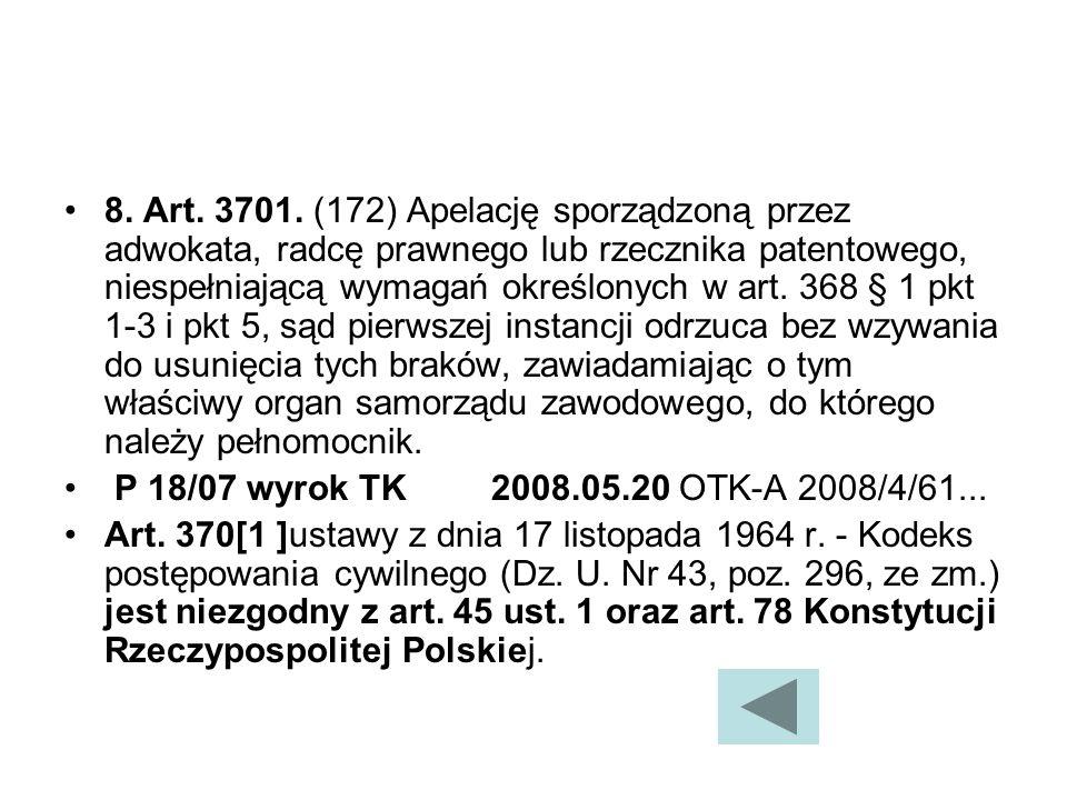 8.Art. 3701.