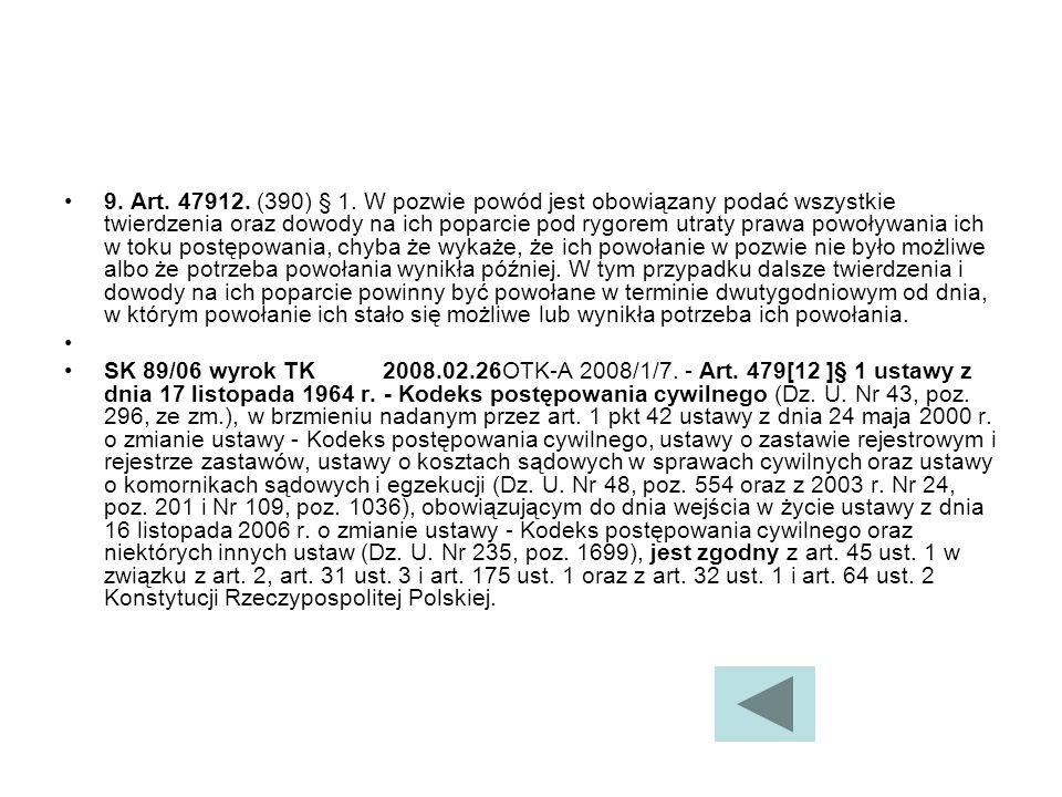 9.Art. 47912. (390) § 1.