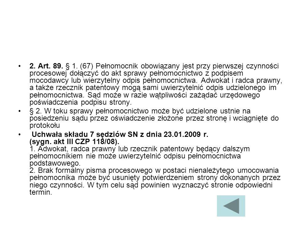2.Art. 89. § 1.