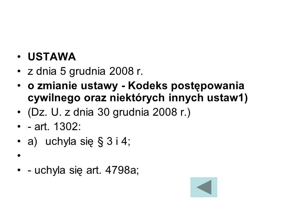 USTAWA z dnia 5 grudnia 2008 r.