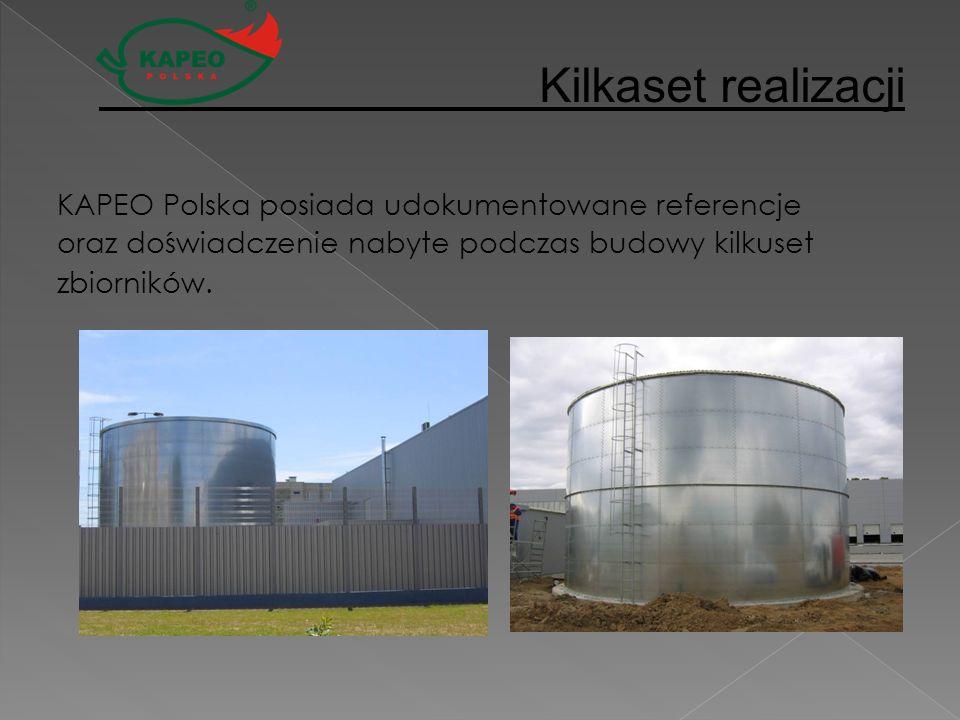 KAPEO Polska posiada udokumentowane referencje oraz doświadczenie nabyte podczas budowy kilkuset zbiorników. Kilkaset realizacji