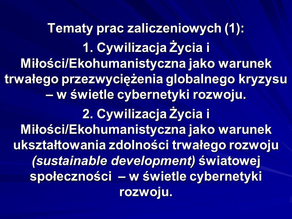 Tematy prac zaliczeniowych (2): 3.