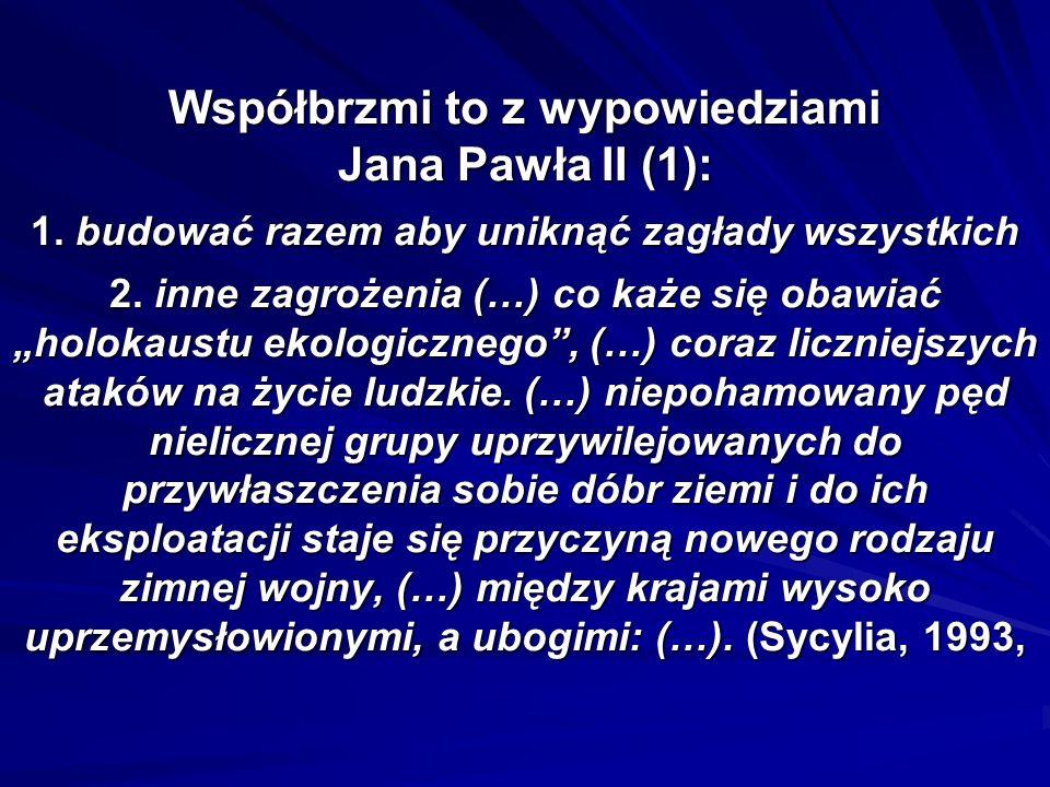 Współbrzmi to z wypowiedziami Jana Pawła II (2): 3.