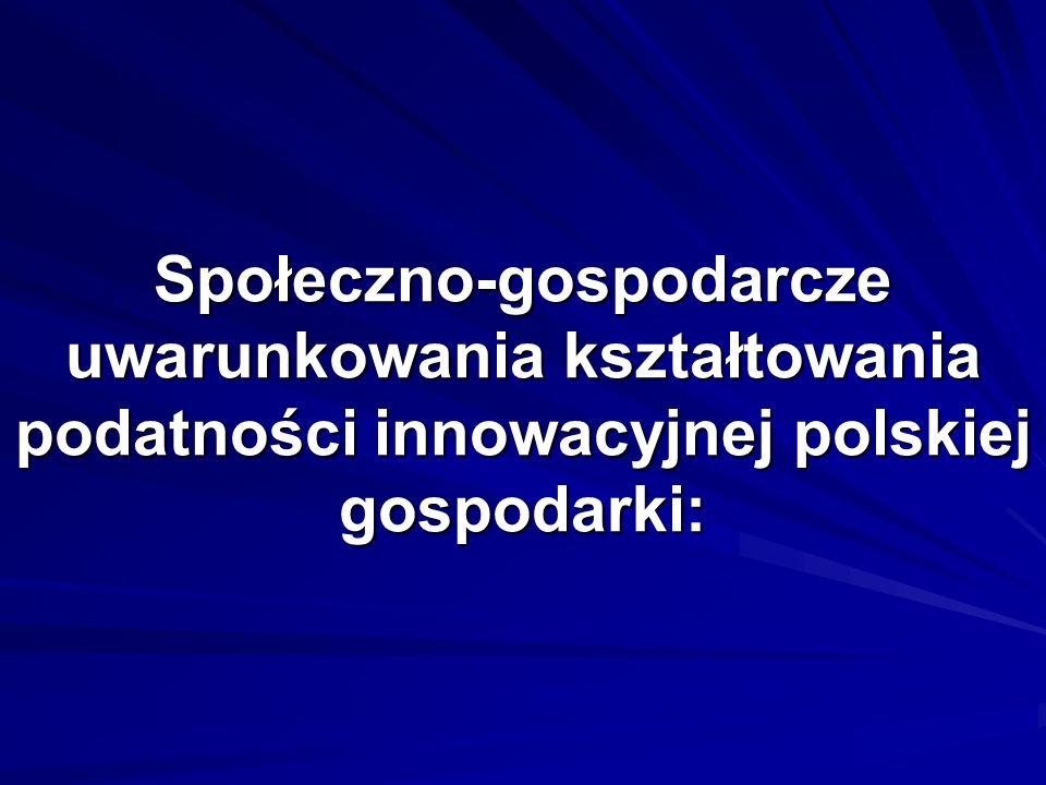 Społeczno-gospodarcze uwarunkowania kształtowania podatności innowacyjnej polskiej gospodarki: