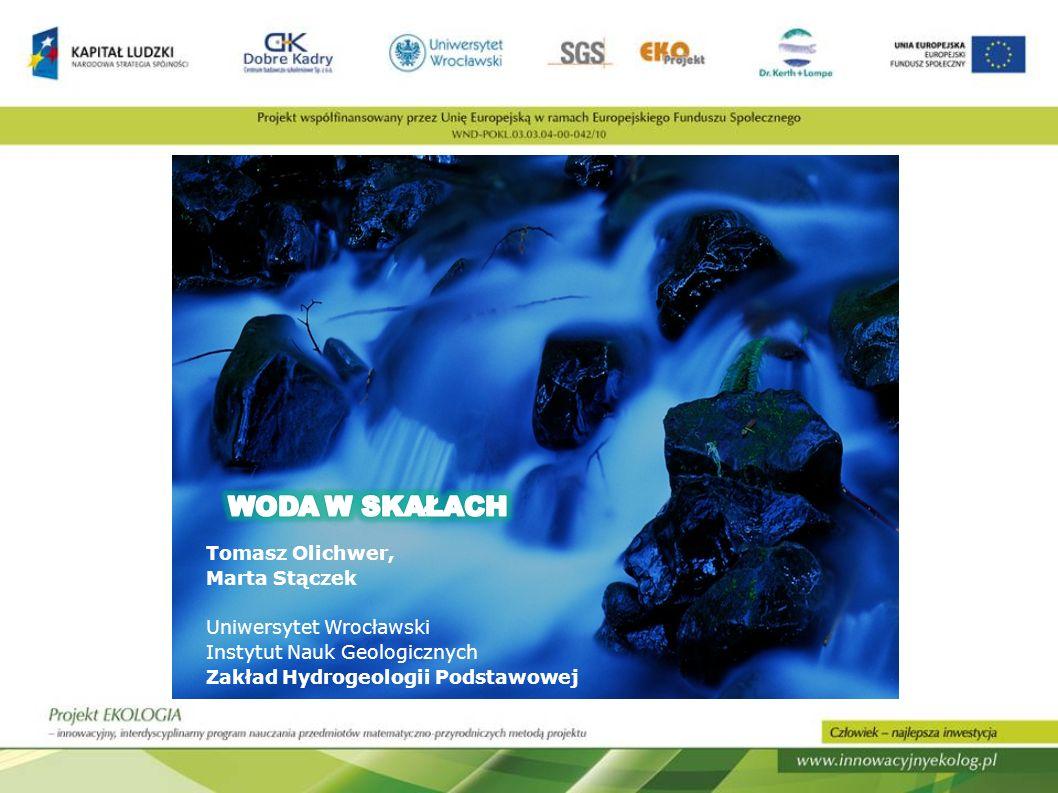 Prezentacja jest graficznym zobrazowaniem zagadnień przedstawionych na warsztatach Woda w skałach prezentowanych w ramach konferencji inauguracyjno-promocyjnych Projektu Ekologia Pokaz obejmmował najprostsze, najtańsze i najbardziej reprezentatywne ćwiczenia dla danych treści.