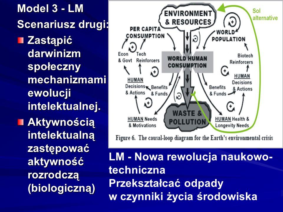 Model 3 - LM Scenariusz drugi: Zastąpić darwinizm społeczny mechanizmami ewolucji intelektualnej.