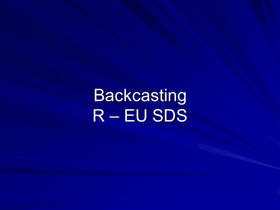 Backcasting R – EU SDS