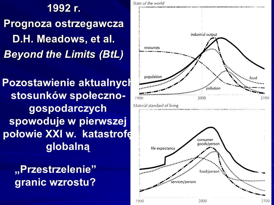 Raporty Meadowsów (MIT – Klub Rzymski) Jeden z modeli stwierdza, że nasz skończony świat nie ma, praktycznie biorąc, granic (wzrostu – LM).