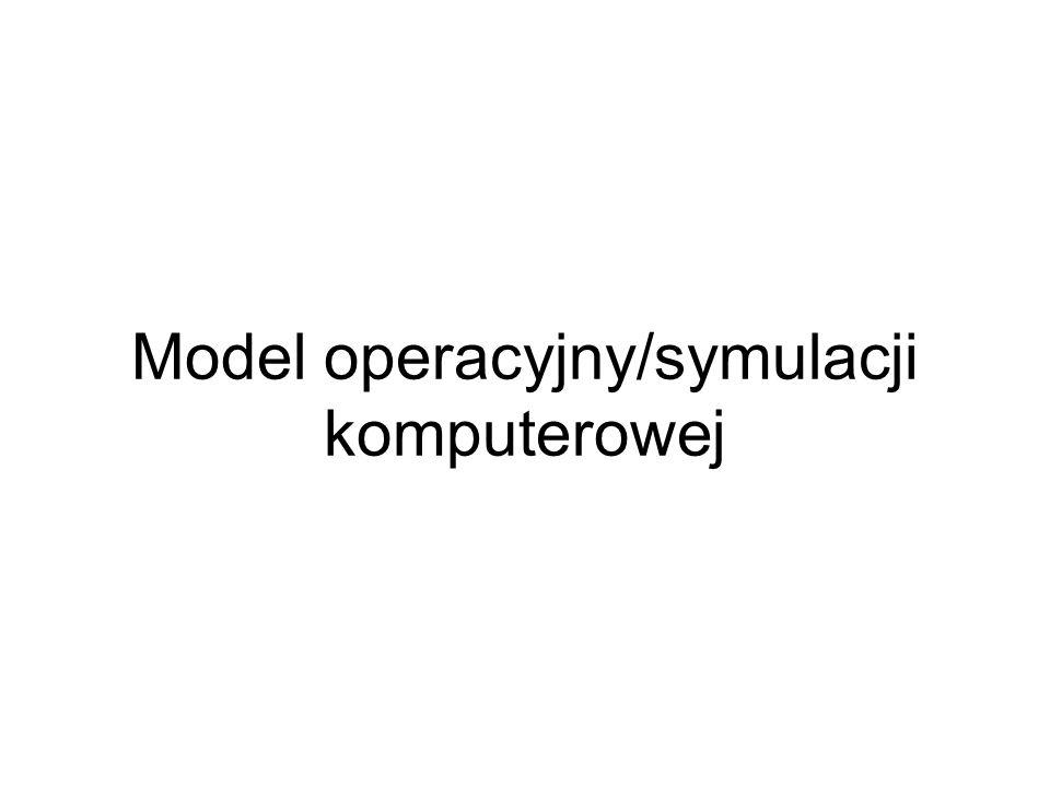 Model operacyjny/symulacji komputerowej