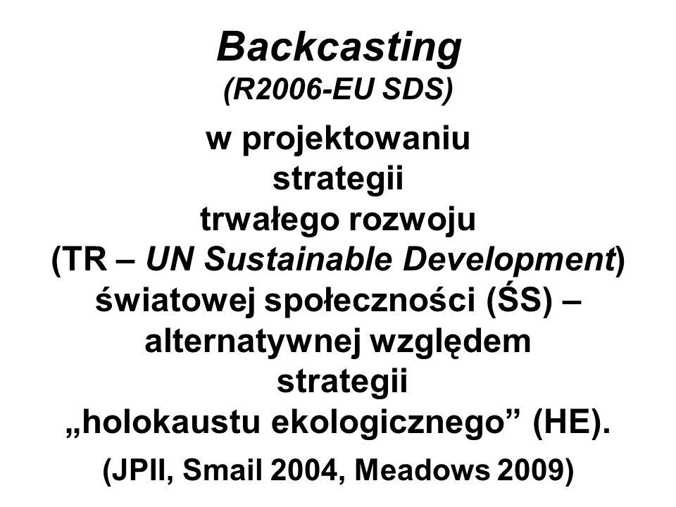 Backcasting (R2006-EU SDS) w projektowaniu strategii trwałego rozwoju (TR – UN Sustainable Development) światowej społeczności (ŚS) – alternatywnej wz