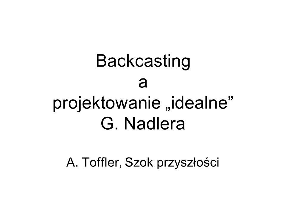 Backcasting a projektowanie idealne G. Nadlera A. Toffler, Szok przyszłości