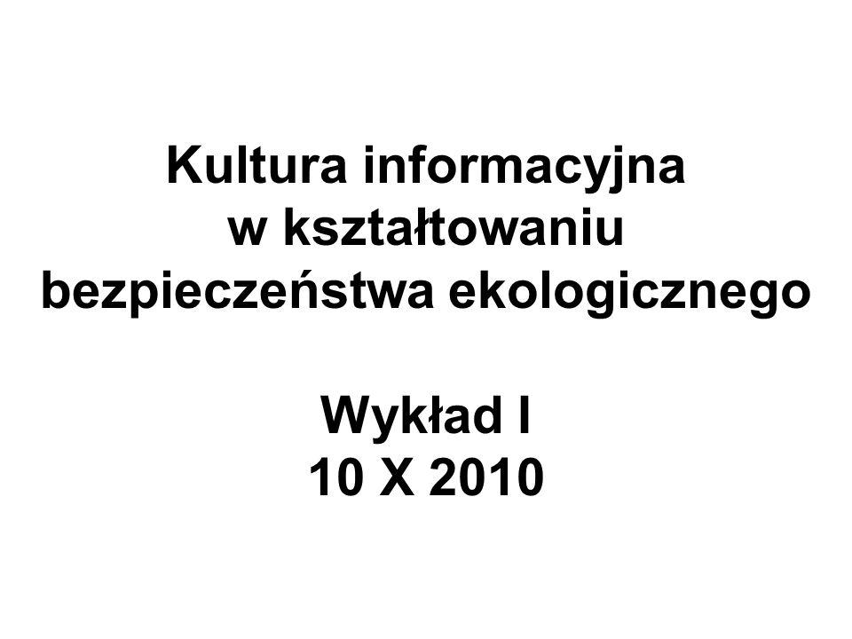 Informacja – pojęcie używane w trzech ujęciach: 1) jako, przeciwstawna entropii.